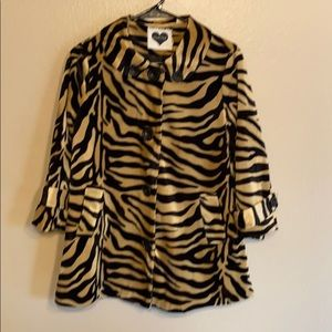 Cute women's animal print jacket size medium